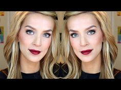 Fall Makeup Bold Lips + Lashes Tutorial - YouTube