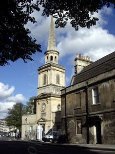 Bath - St Swithins, John Palmer, 1777-90. St. Swithin's Church is where George Austen's tombstone is, not far from the Assembly Rooms.