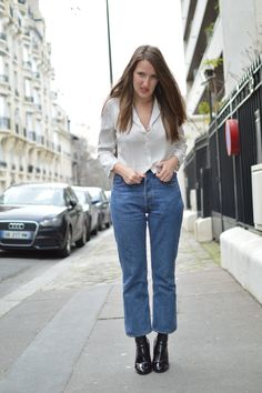 DIY Cropped Flared Jean, with a Levis 501