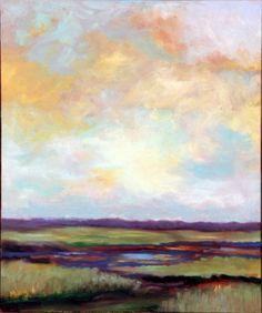☼ Painterly Landscape Escape ☼ landscape painting by NANCY MOLVIG  Great Meadows