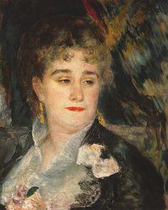 Pierre-Auguste Renoir ~ Madame Charpentier ~ 1877 ~ Olieverf op doek ~ 46 x 38 cm. ~ Musée d'Orsay, Parijs
