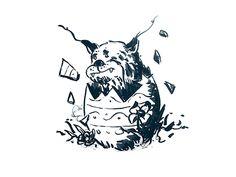 easter lynx animation