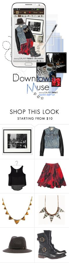 """""""Create a Downtown Muse look for a chance to win a Samsung GALAXY Note II!"""" by kam-wing ❤ liked on Polyvore featuring Pottery Barn, Samsung, Zara, rag & bone, Sarah Wayne, Joe Browns, Prada, House of Harlow 1960 and Fiorentini + Baker"""