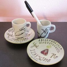 New ouija espresso cups/saucers available in my web shop.  :)