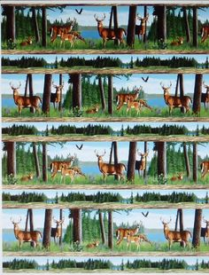 Oh Deer! Animals~Cotton Fabric, Quilt, Home Decor~Wilmington Prints - Sue's Creating Cottage Quilt Shop