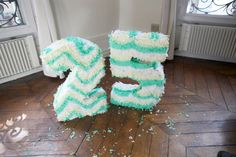 how to make a number piñata from Oh Happy Day