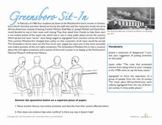 greensboro sit ins the greensboro sit in free lesson for fourth grade nc places culture. Black Bedroom Furniture Sets. Home Design Ideas