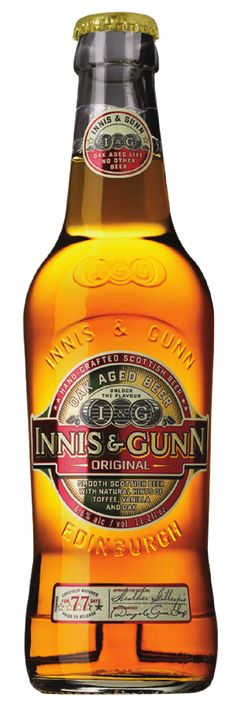 Innis & Gunn. Tasty, strong beer aged in oak barrels which gives it very distinctive flavor. It's a shame that quality beers like this are damn expensive in Finland because of the fascist alcohol legislation.