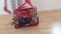 Spiderman kuffert med 4 hjul børn kan sidde på