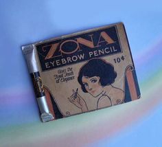 Vintage 30s Zona Eyebrow Pencil Cosmetic on Card by TheSpectrum