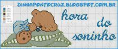 Bom dia!!!  Mas uma encomenda prontinha, um mimoso ursinho resolveu cochilar    Aqui o gráfico que usei     Versão para meninas  aqui !  ...