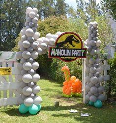 Birthday Party At Park, Dinosaur Birthday Party, Third Birthday, Birthday Parties, Jurassic World, Jurassic Park, Noah, Party Central, Jordan 7