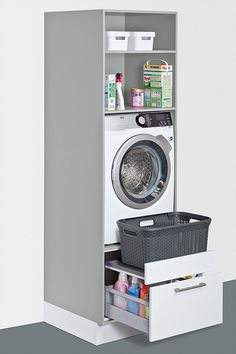 Utility room ideas from Schuller, solutions for everything – even in a small space. Fitted furniture for your laundry, cleaning, storage and recycling. – The post Utility room ideas from Schuller, solutions for ev… appeared first on Best Pins for Yours. Small Laundry Rooms, Laundry Room Organization, Laundry Room Design, Laundry In Bathroom, Bathroom Storage, Kitchen Storage, Small Bathrooms, Small Utility Room, Utility Room Ideas