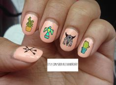 20 Southwestern Nail Decals  Water Slide  by TheMoonGoddessMarket