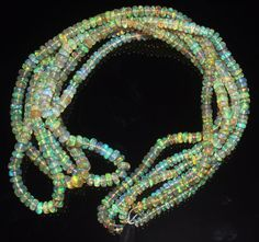 """1 Strand 3 to 4.5 mm 17"""" Beads Natural Genuine Ethiopian Welo Fire Opal** 429"""