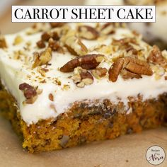 Recipes by Nora - Carrot Sheet Cake: Homemade carrot cake: Carrot Cake Sandwich Cookies, Carrot Cake Loaf, Carrot Spice Cake, Homemade Carrot Cake, Moist Carrot Cakes, Cookie Sandwiches, Carrot Sheet Cake Recipe, Sheet Cake Recipes, Kos