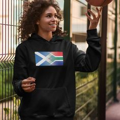 Scotland and South Africa Mixed Heritage Flag Hoodie - 3XL