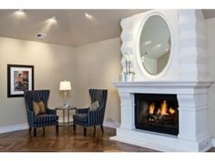 This fire place is easily the focal point of the room. Atherton, CA Coldwell Banker Residential Brokerage $12,300,000