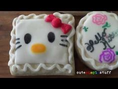 I just wanted to share this Hello kitty Cookies! Give them a try!