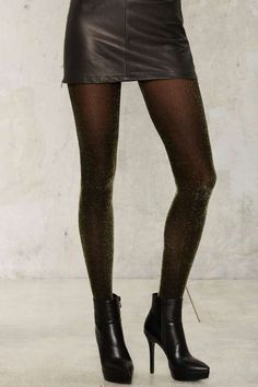 7fbf54154e4 Walk in the Spark Lurex Tights - Gold  28 Opaque Tights