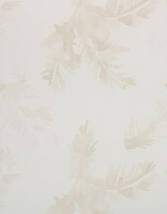 Wallpaper Design 'Palmeras' reference 4800046 (10 metres x 53cms) A sublime watercolour 'palm leaf' design on a non-woven wallpaper in a pale beige colour on a soft white background. This wallpaper is washable, with good light resistance and strippable. #Paper Moon #Coordonne #Wallpaper #Lara Costafreda #Palm Leaves