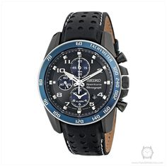 SEIKO SNAF37P1 Men's Sportura Alarm Chronograph with Sapphire Crystal and 100m WR