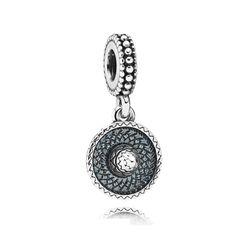 Pandora 2016PC6365 Silver Sombrero Dangle Charm