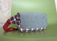 hip sack, cotton linen, handmade
