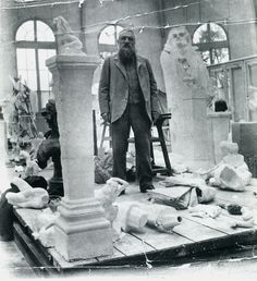 Auguste Rodin, French sculptor at his studio in Paris Auguste Rodin, Musée Rodin, Camille Claudel, Alberto Giacometti, Alexander Calder, Alphonse Mucha, Norman Rockwell, Diego Rivera, Willem De Kooning