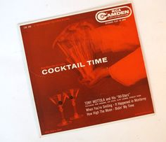 Cocktail Time Vintage 1950s Extended Play 45 Vinyl Record Tony Mottola And His All Stars by retrowarehouse on Etsy