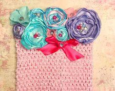 Tutu pastel tubo superior niña rosa lavanda Aqua primer tela