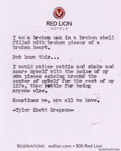 Typewriter Series #262by Tyler Knott Gregson