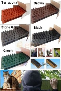 50CM-FENCE-GUARD-WALL-SPIKES-ANTI-CLIMB-CAT-BIRD-REPELLENT-DETERS-INTRUDERS-BEST