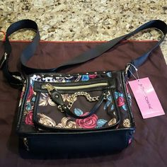 NWT $78 Betsey Johnson Rosey Mix Up Purse Gorgeous and fun! Has long adjustable shoulder strap. Betsey Johnson Bags Shoulder Bags