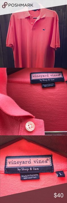 Vineyard Vines Polo shirt Vineyard Vines authentic classic pique polo shirt very gently owned in excellent condition size L. Spotless, no stains and no damage. Vineyard Vines Shirts Polos