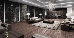 amazing loft interior, living room