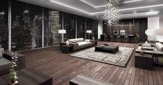 amazing loft interior, living room