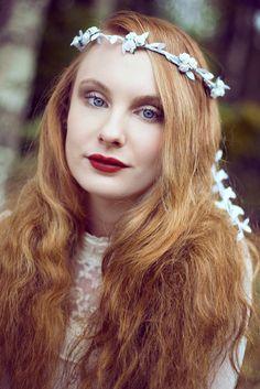 White flower crown, Wedding Flower Crown, White Rose Flower Crown – Beauxoxo- Handmade, Hair Accessories