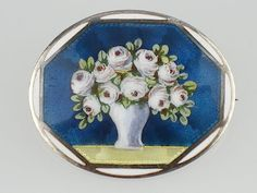 Art Nouveau Meyle & Mayer Pforzheim Plique a Jour Email Brosche,Blumen,antik! | eBay
