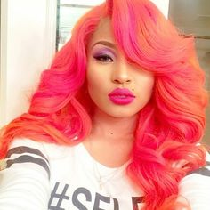 JUST Dope hair and color. Wonder if extensions would get my hair to look so full and thick.