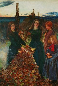 """""""Autumn Leaves"""" (1856) by Sir John Everett Millais"""
