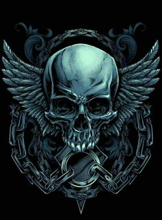 ebe3d6dabe7e Evil skull design with wings and chains for a MMA apparel brand - Tap the  link to shop on our official online store! You can also join our affiliate  and or ...
