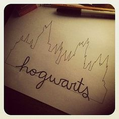 This would be a super cool tattoo only I'd substitute always instead of hogwarts