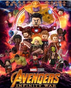 LEGO Avengers: Infinity War [Artist – _Azork _on IG] – Jewelry & Praktische Ideen & lego & Dekoration Marvel Fanart, Films Marvel, Marvel Vs Dc Comics, Marvel Heroes, Lego Marvel Superheroes 2, Captain Marvel, The Avengers, Avengers Cartoon, Iron Man