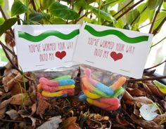You've Wormed Your Way Into My Heart Valentine! Free Printable! Gummy Worm Valentine!