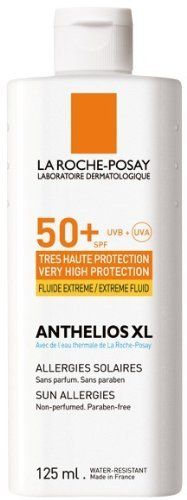 Anthelios Xl SPF 50+ Extreme Body Fluid by Anthelios XL Fluide Extreme SPF 50+ Body. $21.95. Fragrance-free. Non-comedogenic. Water resistant.. Very high body protection. Ultra UVA (PPD 32).. Indications Skin subject to sun intolerance, commonly known as sun allergies. Extreme sun exposure. Practical, economical format.  Properties Very high UVA/UVB protection. Broad, photostable Ultra* UVB/UVA protection thanks to the Mexoryl® SX and XL filters.  - Ultra-light, 100% non-sti...