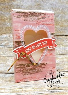 Love Box (Creativelee Yours) Valentine Treats, Valentines Day, Valentine Cards, Love Box, Do Love, Sweet Love Quotes, Love Is Sweet, Handmade Stamps, Handmade Cards
