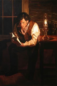 arte loro bobbygio Man reading by lamplight by Jeffrey Hein Source:bobbygio I Love Books, Good Books, Books To Read, Book Art, Thomas Carlyle, Art Ancien, Reading Art, Reading Books, World Of Books