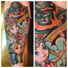 zelda Nintendo Tattoo, Gaming Tattoo, Zelda Tattoo, Gamer Tattoos, Super Nintendo, Legend Of Zelda, Geek Stuff, Princess Zelda, Link Zelda