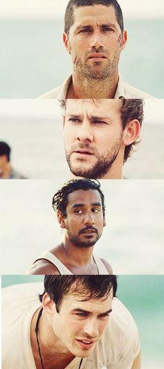 Jack, Charlie, Sayid, and Boone.